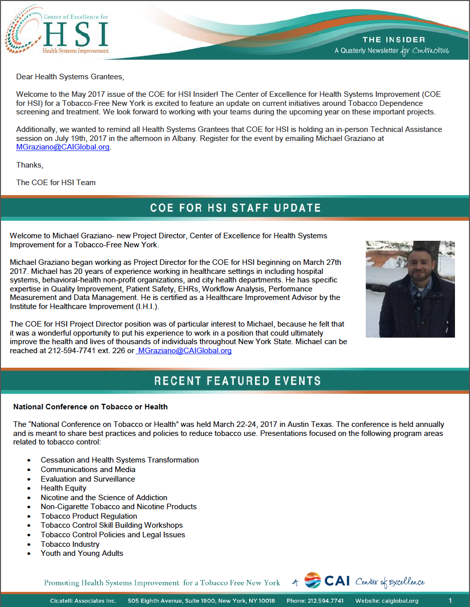 Icon HSI newsletter May 2017
